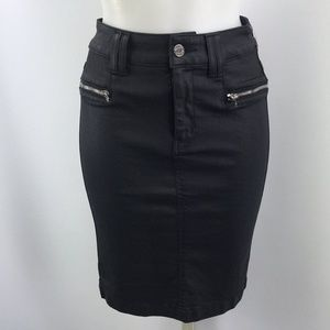 7 For All Mankind Black Pencil Skirt Size 2